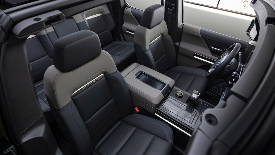 GMC HUMMER EV electric SUV back seat interior view
