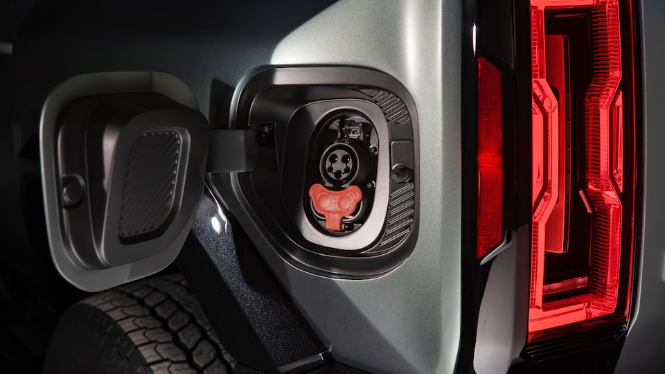 GMC HUMMER EV electric SUV power station close up
