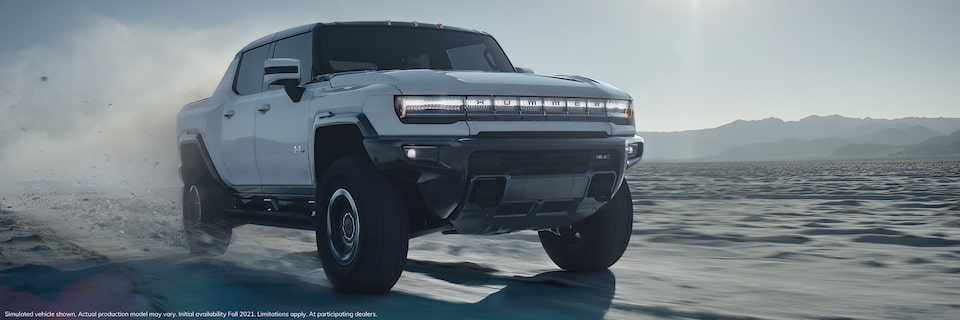 2020 GMC HUMMER EV Electric Truck Side Angle Exterior View