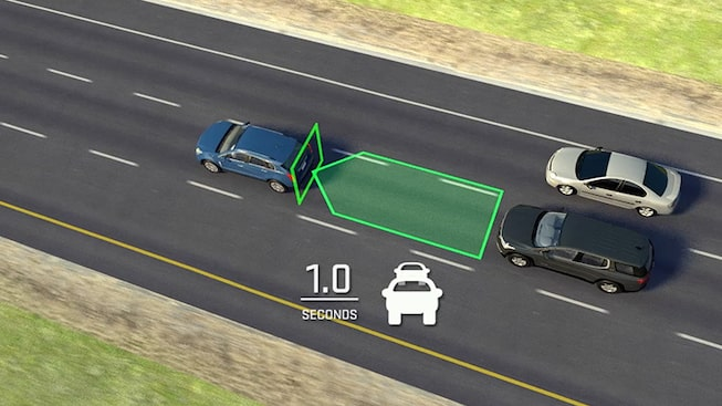 Click to watch a video about safe following distance  for GMC vehicles.