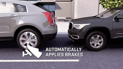 Click to watch a video about the safety auto braking available for GMC vehicles.